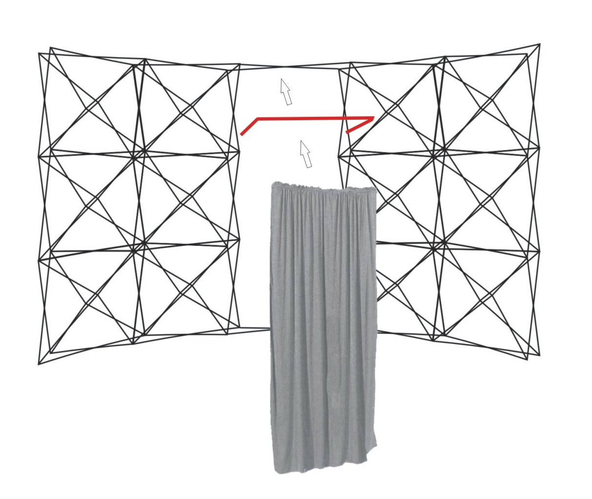 Vorhangstangen für Durchgang Spider Flex (0,80 m Breite), Willkommen im Spider Evoflex Shop