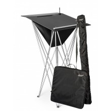 Lectern Combo low with mailbox 57 cm tabletop black / silver bar incl. pen holder and bags