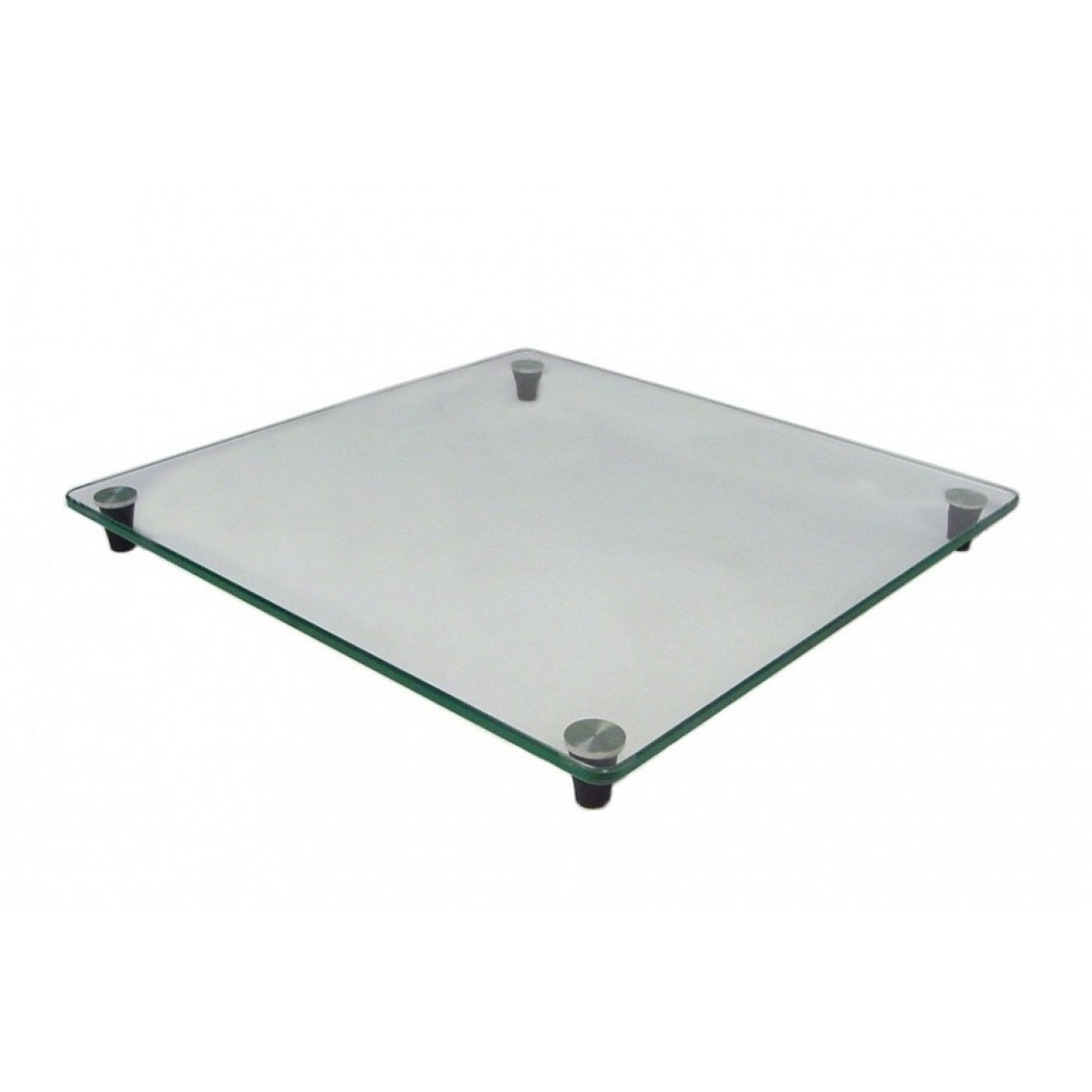 Safety glass table top 30 x 30 12 x 12 cm with rubber for 12 x 30 table